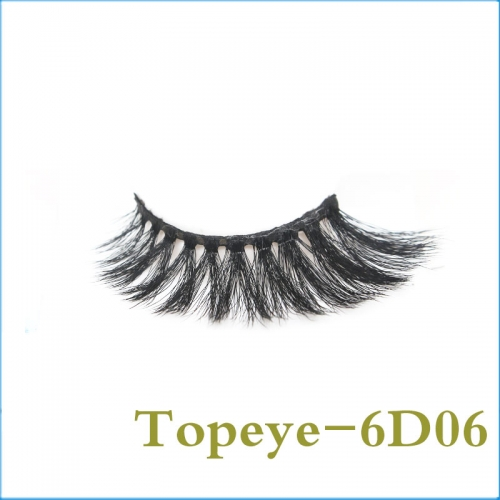 Fashion Korean  6D Faux mink strip eyelash