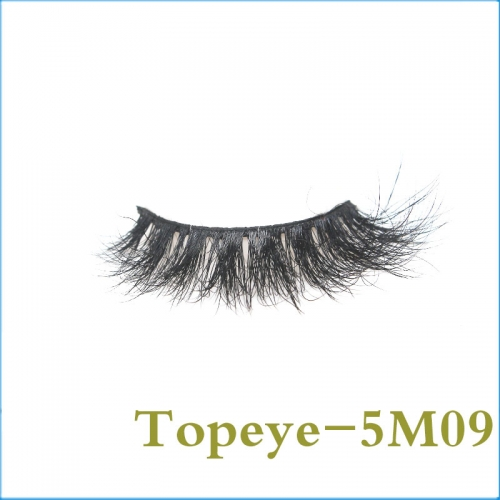 5D Real Mink Eyelashes Hand Made Eyelash 100% Fur Material Lashes E-5DM-09