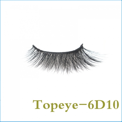 In Stock Natural Style Top Quality  6D Faux mink strip eyelash