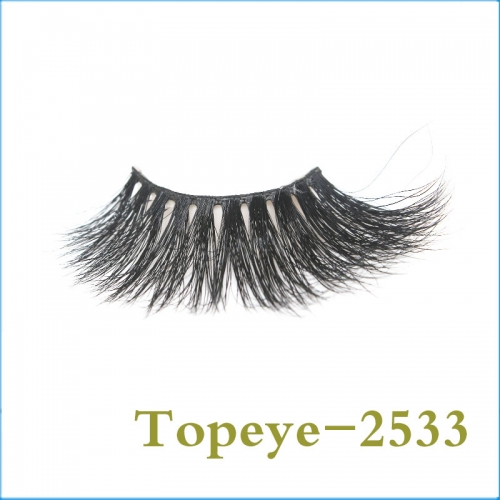Wholesale Premium Best Quality 25mm mink fur strip eyelash