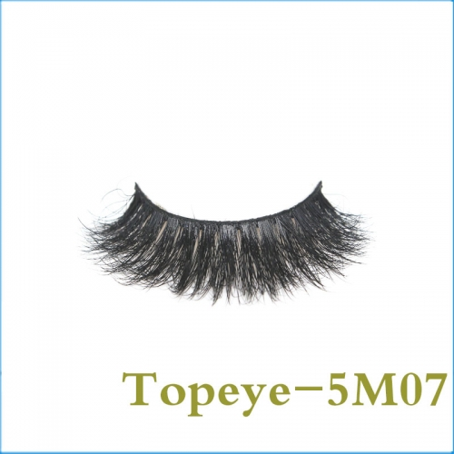 5D Mink Eye lashes Hand Made Eyelash 100% Fur Material Lashes E-5DM-07