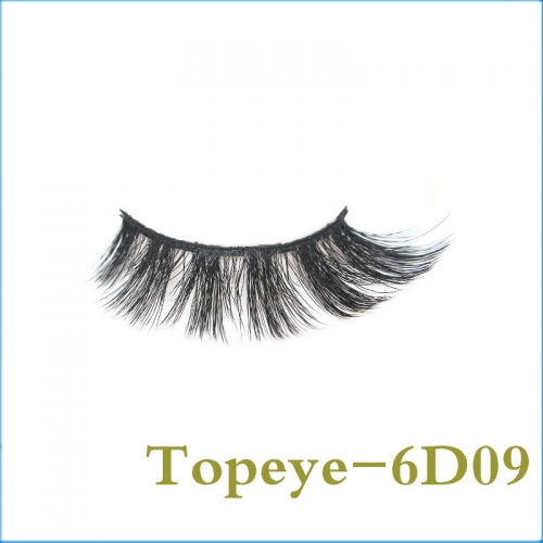 In Stock Natural style  6D Faux mink strip eyelash