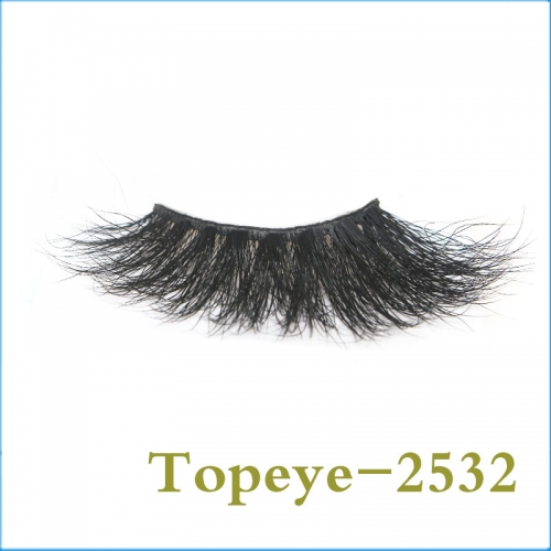 Fashion Korean  25mm Best selling  mink strip eyelashes