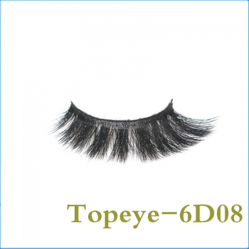 Best Selling Korean style  6D Faux mink strip eyelash