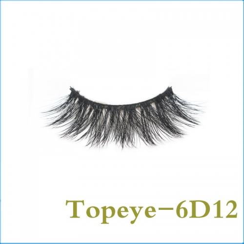 Wholesale popular luxury style  6D Faux mink strip eyelash
