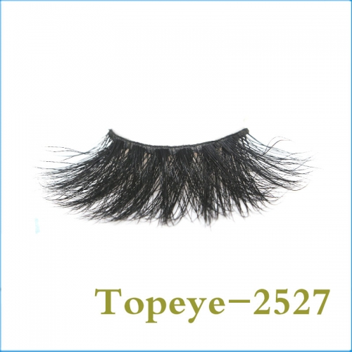 Wholesale hot selling 25mm  mink fur  strip eyelash