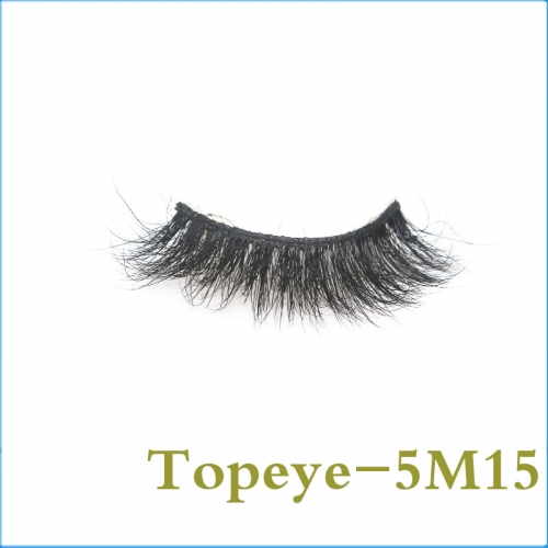 Hand made Eyelashes  Wholesale  5D mink fur strip eyelashes Custom package
