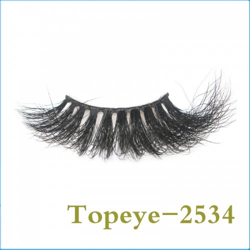 In Stock Hand Made Fashionable  25mm  mink strip eyelash