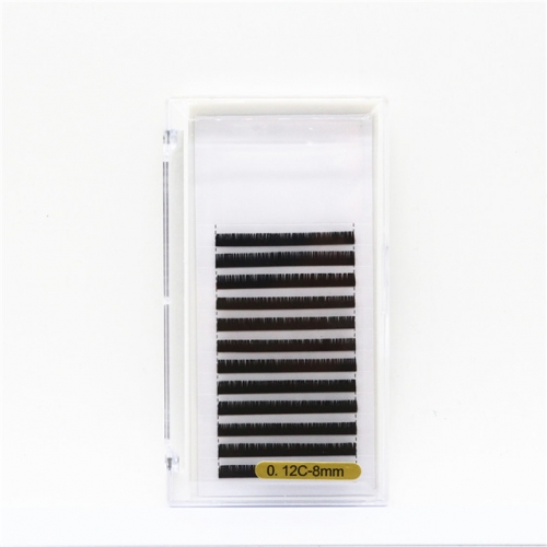 0.12mm Thickness C Curl Handmade Faux Mink Eyelash Extensions