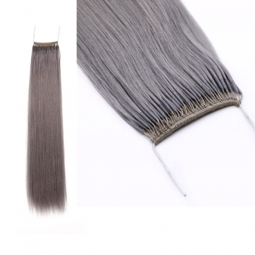 16inch Ash Lights Color Remy Hair Knot Thread Hair Extensions