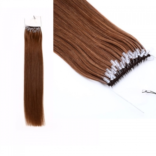 High Quality Dark Brown Color 18inch Brazilian Hair Cotton Knot Thread Hair Extensions Easy Pull