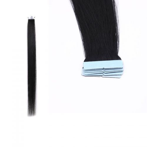 18inch Straight  Black Color Tape Hair Extensions Tape-in Hair