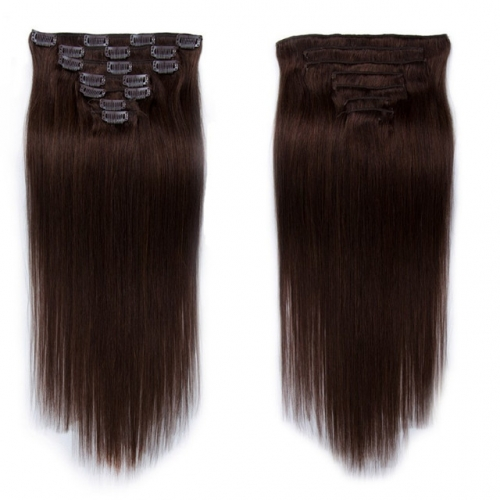 16inch Black Color Clip in Hair Extension 8''-30''