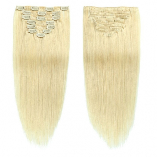 18inch Blonde Color Clip in Hair Extension 8''-30''