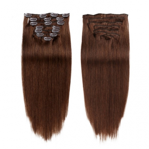 16inch Brown Color Clip in Hair Extension 8''-30''