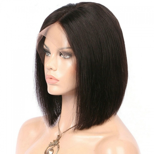 14'' Straight Lace Front Wig Human Hair Wig