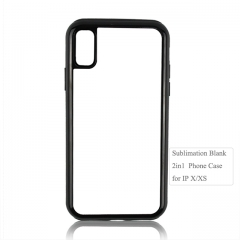 High quality 2D 2IN1 Sublimation blank phone case for iPhone X