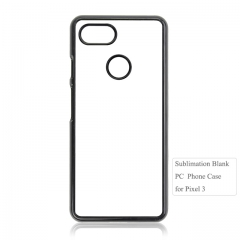 Factory price 2d plastic sublimation blank phone case for Google Pixel 3