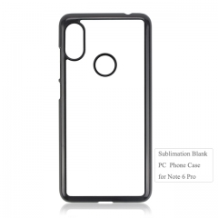 2D Sublimation blank phone case For Redmi note 6 Pro on hot sales
