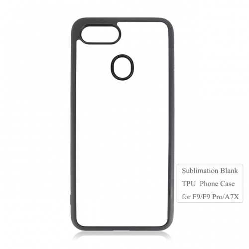 High Qualitu soft blank sublimation tpu phone case for oppo F9