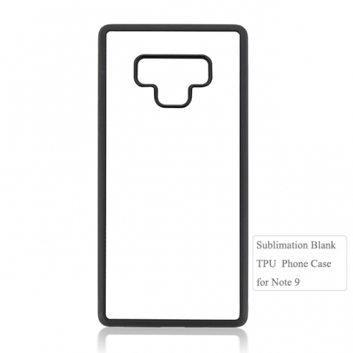 2d flexible TPU sublimation blank phone case For Galaxy Note 9