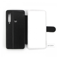 High Quality durable sublimation leather cellphone case for Sam sung A9 2018