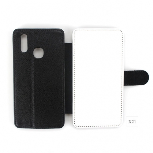 High Quality diy blank sublimation PU leather cellphone cover for Vivo X21