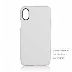 Sublimation 3D Film Phone Case With Black Camera Hole For iPhone X iPhone series