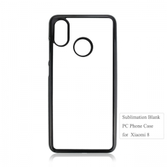 High Quality 2D Plastic blank phone cover for Xiaomi MI8