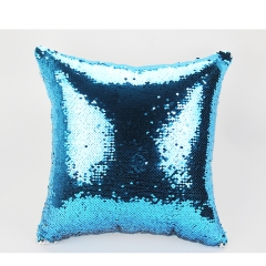 Sublimation Double Printable Short Plush Magic Sequins Pillow Cover on Hot Sales