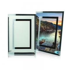 Personality Fashion Blank Sublimation Glass Photo Frame For Gift