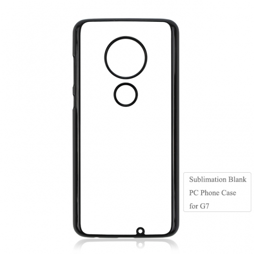New Personality Sublimation Blank 2D plastic phone case for Moto G7