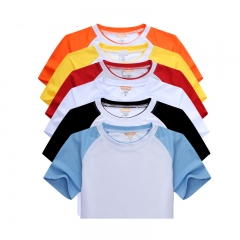 Fashion Blank Sublimation Color Raglan Sports T-shirt