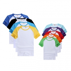 High Quality Blank Sublimation Color Raglan Cotton T-shirt