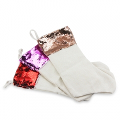 High Quality Blank Sublimation Magic Sequin Christmas Stocking