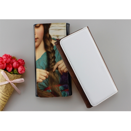 Sublimation Printing PU Leather Tri-Fold Wallet For Women With Blank Canvas
