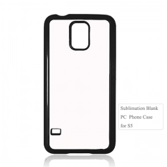 2D Plastic Sublimation Mobile Phone Cover For Sam sung Galaxy S5