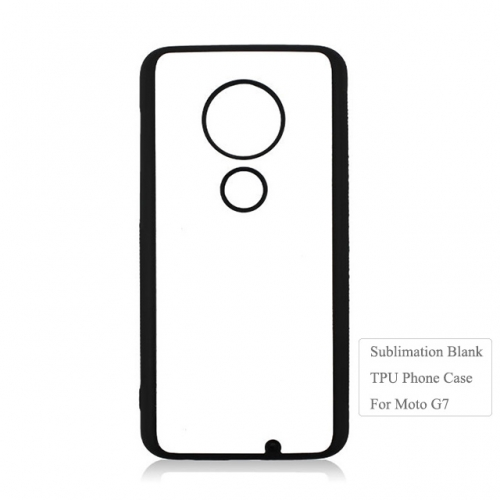 2019 Newly 2D Flexible TPU Sublimation Blank Phone Case For Moto G7