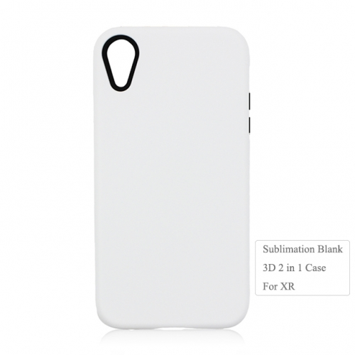 High Quality 3D 2IN1 sublimation blank case for Iphone XR