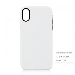 Wholesale 3D 2IN1 sublimation blank case for Iphone X.XS ON Hot Sales