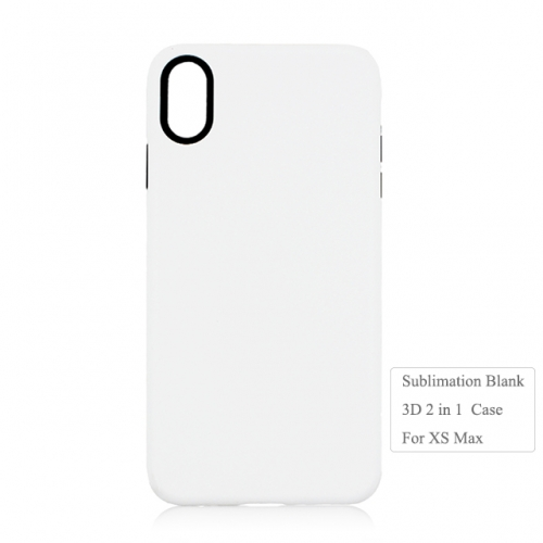 Double protection 3D 2IN1 sublimation blank case for Iphone XS Max