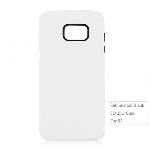 Wholesales 3D Blank Sublimation 2in1 Phone Case For Sam sung S7