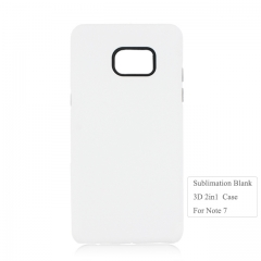 Blank 3D 2in1 Sublimation Phone Case For Sam sung Note 7