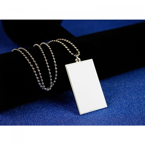 Exquisite DIY Blank Sublimation Rectangular Dog Tag