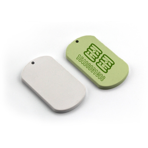 Custom Design Heat Transfer Blank Polymer Dog Tag