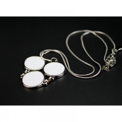 Popular Sublimation Blank Necklace--3pcs Round Shaped