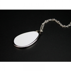 Fashionable Sublimation Blank Necklace Ellipse Shaped