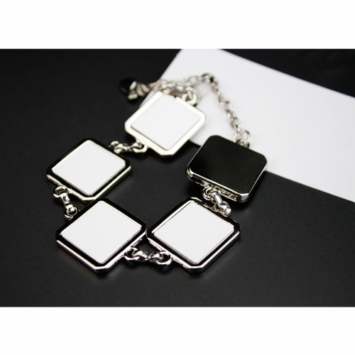 Fashionable Sublimation Blank Bracelet With 5pcs Square Shaped