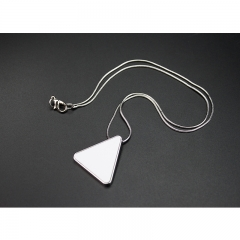 Fashionable custom design Sublimation necklace, Triangle shape