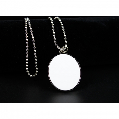 Popular Sublimation Blank Round Shaped Necklace